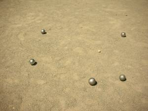 Cochonnet et boules