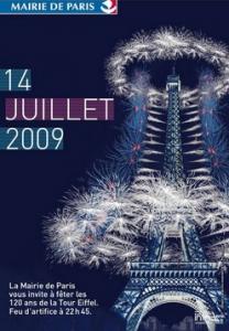 Affiche 14 juillet 2009: Mairie de Paris.